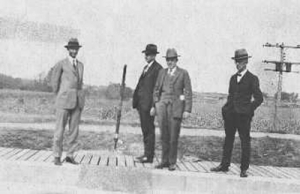 This photo taken in May 1925 shows Dr. Karl Imhoff (third from the left)
